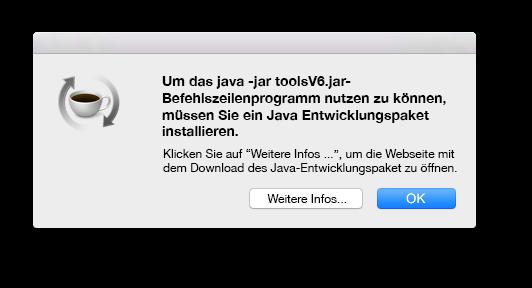 Java Tool Entwicklungspaket von Mac OSX
