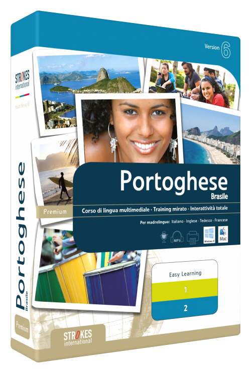 Imparare Portoghese Brasile paccetto Combi- Strokes Easy Learning